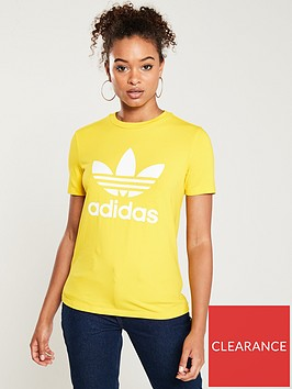 adidas-originals-trefoil-tee-yellownbsp