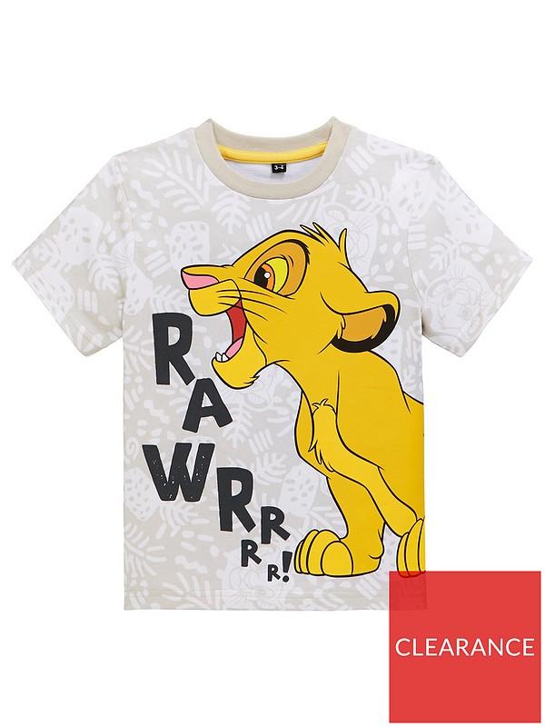 New Boys Lion King T-Shirt Age 4-5 RRP £6