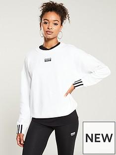 fa52c219d1e35 adidas Originals R.Y.V. Sweat - White