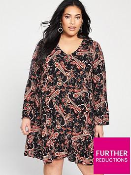 v-by-very-curve-smock-dress--nbsppaisley-print