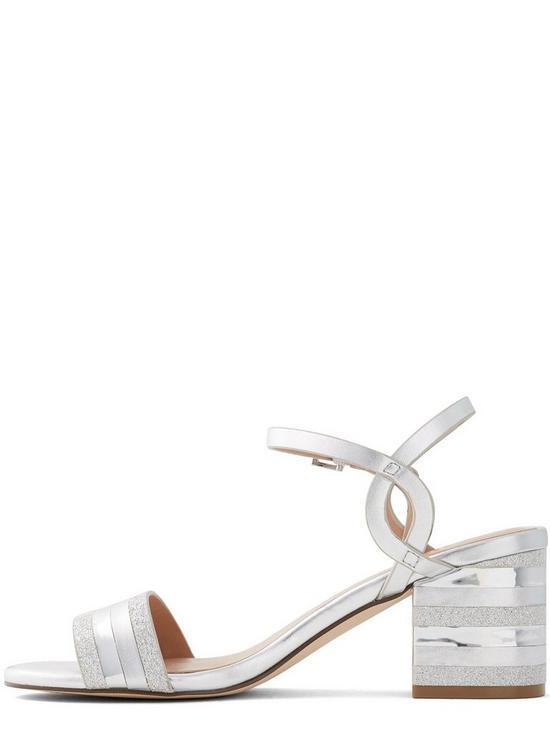 c12c2d2c8ed Vegan Coccinea Heeled Sandals - Silver
