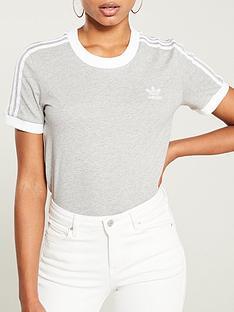 adidas-originals-3-stripe-tee-grey-heathernbsp
