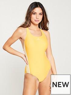 adidas-fit-3-stripe-swimsuit-yellow