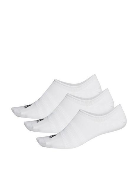 adidas-3-stripe-performance-no-show-sock-white