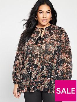 v-by-very-curve-tassel-blouse-paisley-print