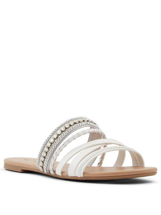 05d21d590 CALL IT SPRING Vegan Kucerova Flat Sandals - White