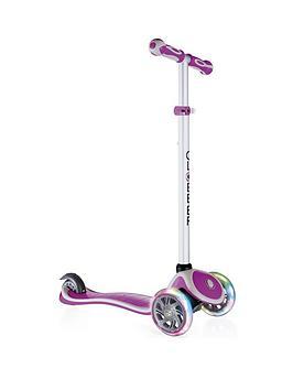 globber-primo-plus-lights-scooter-pink