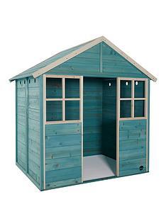 plum-garden-hut-wooden-playhouse-teal