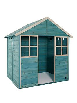 plum-garden-hut-wooden-playhouse-teal
