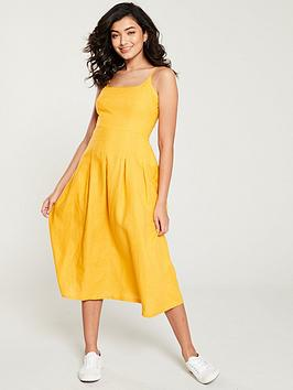 whistles-duffy-linen-strappy-dress-yellow