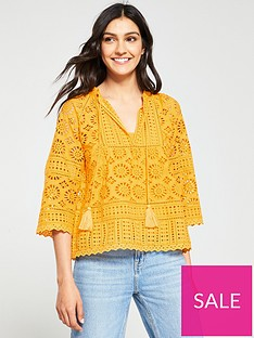 whistles-maggie-broderie-top-yellownbsp