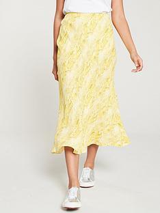 whistles-python-print-bias-cut-skirt-yellowmulti