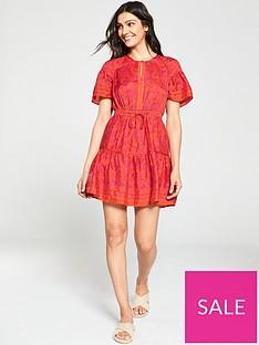 f203bcd6f6a7 WHISTLES Henna Print Flippy Dress - Pink/Multi