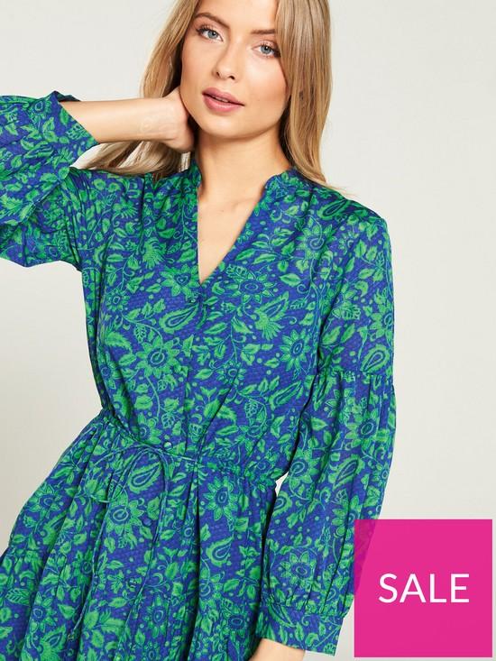 f801dde0db6b ... WHISTLES Valeria Henna Print Shirt Dress - Green Multi. View larger