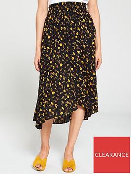 whistles-aster-floral-textured-wrap-skirt-blackmultinbsp