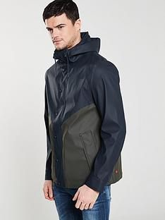 hunter-original-lightweight-rubberised-jacket-navygreen