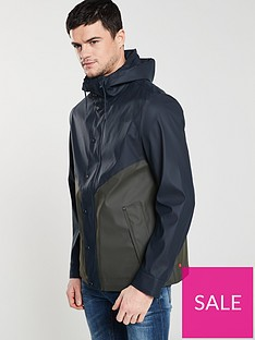 hunter-original-lightweight-rubberised-jacket-navygreen