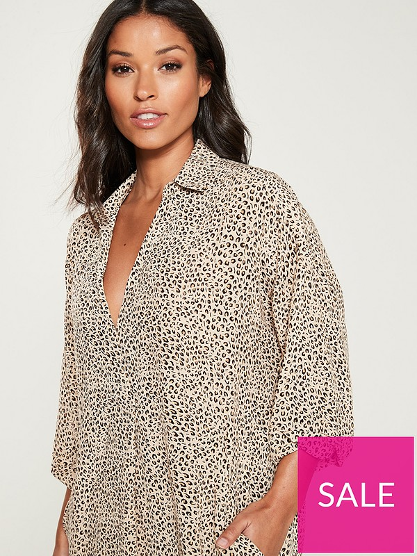 5b7bd69d7785 ... WHISTLES Leopard Print Lola Dress - Brown/Multi. £78.00. Swipe for more  images. Double tap to zoom