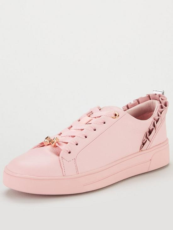 1be4fdd309d70 Ted Baker Astrina Frill Trainers - Pink