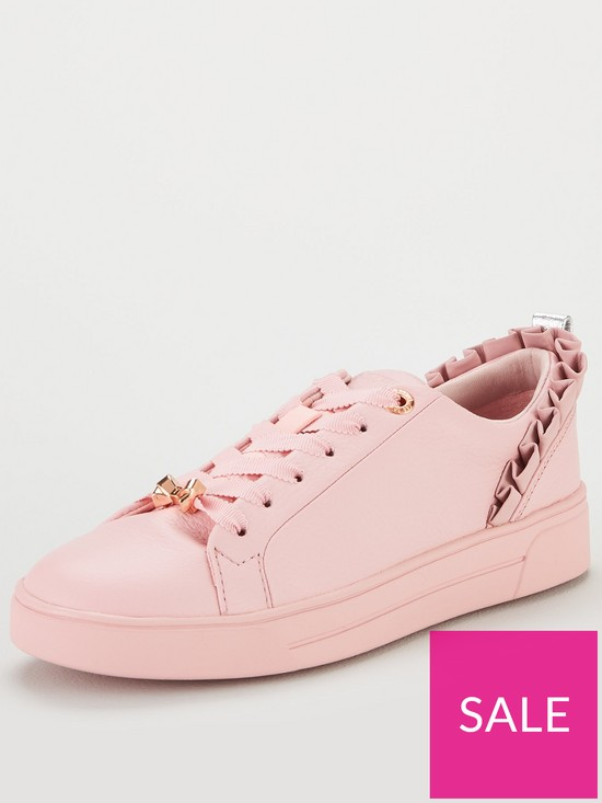 6794a1e72 Ted Baker Astrina Frill Trainers - Pink | very.co.uk