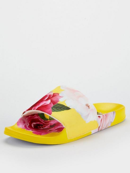 efa04ec5a07 Ted Baker Avelini Slides - Yellow | very.co.uk