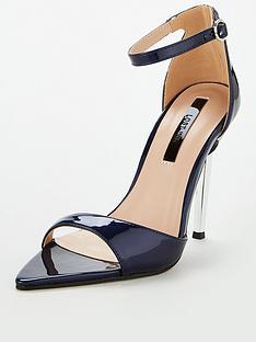 c2a42dad23d Lost Ink Rogue Metal Heel Sandal
