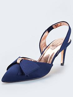 ted-baker-aidelas-bow-sling-back-heels-navy