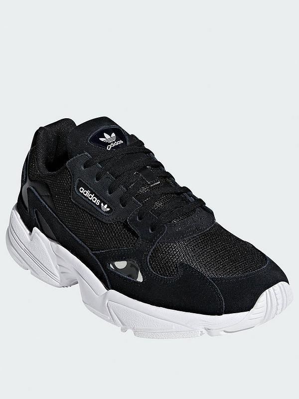 escalada Hostal ironía  adidas Originals Falcon W - Black/White | very.co.uk