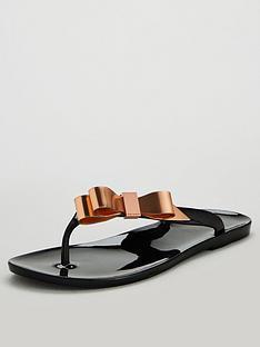 bb6e276c96c38 Ted Baker Suszie Flip Flops - Black