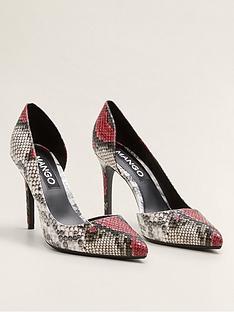 11d5c1a24ad Mango Snake Print Court Shoes