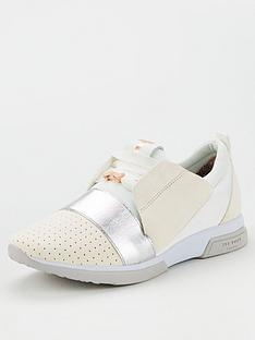610b8efd19a73 Ted Baker Cepas 3 Trainers - White Silver