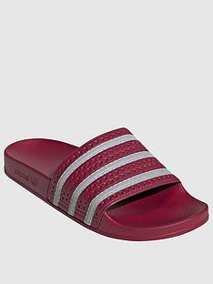 adidas-originals-adilette-burgundysilvernbsp
