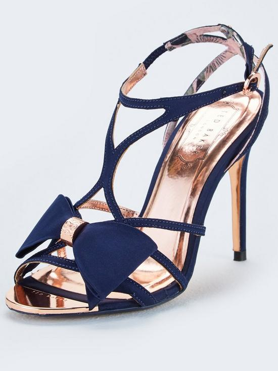1ad2ee51b4e Ted Baker Arayi Bow Heeled Sandals - Navy