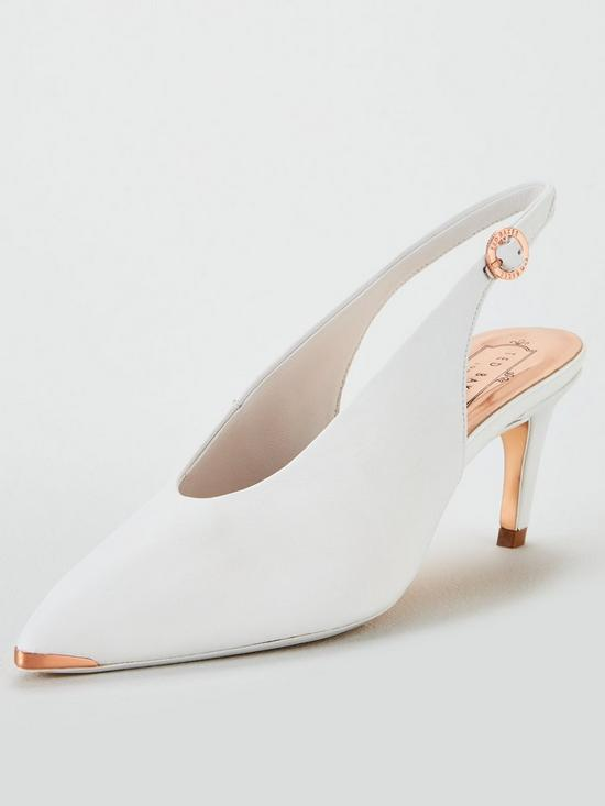 a78c3ea8cc7dc Hulia Sling Back Pointed Shoes - White