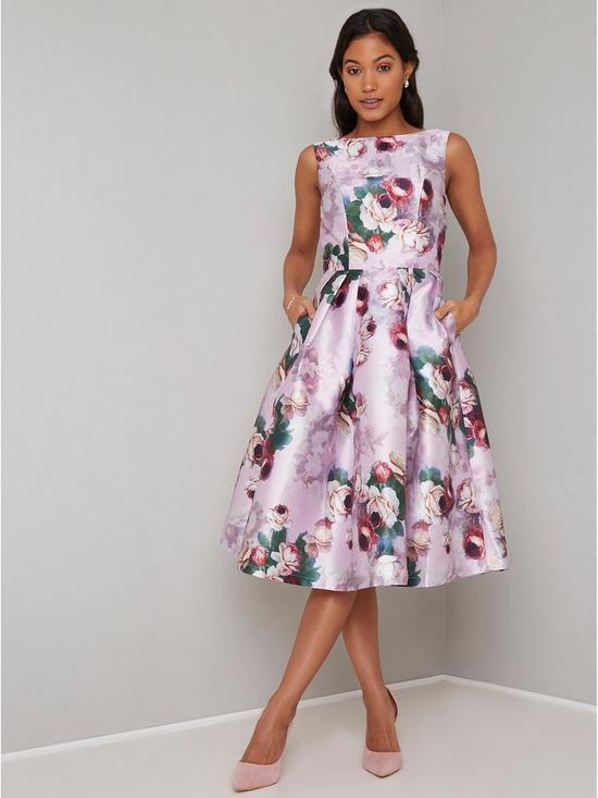 3ffa1ed3836 Chi Chi London Ariyah Printed Prom Dress - Pink