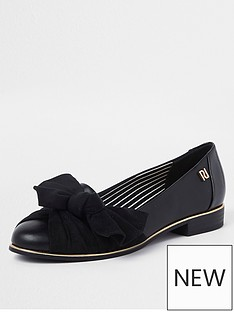 river-island-bow-front-loafer-black