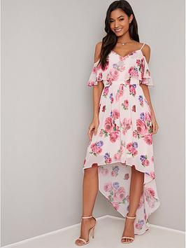 chi-chi-london-fummi-floral-print-cold-shoulder-maxi-dress-multi