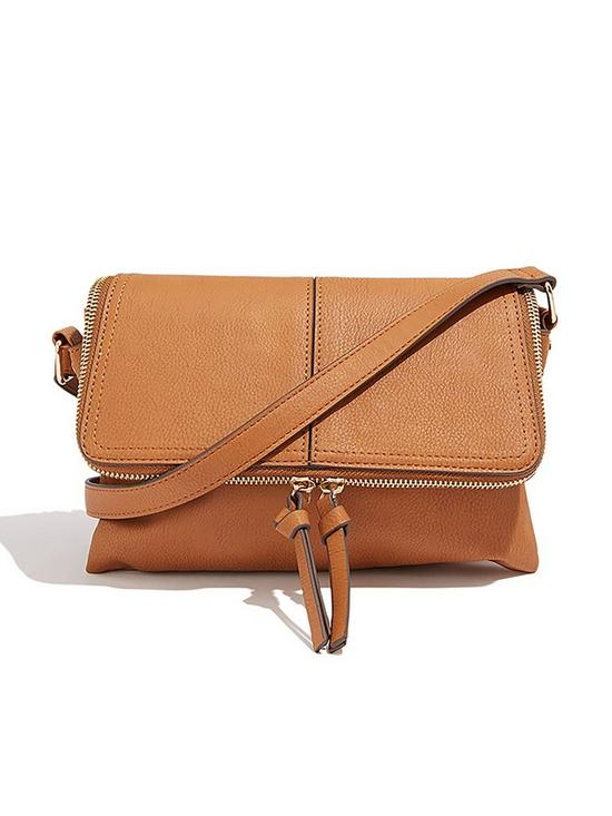 64a7513dd78d Oasis Multi Compartment Casual Cross Body Bag - Brown | very.co.uk