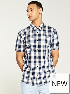 v-by-very-short-sleeve-check-shirt-multi