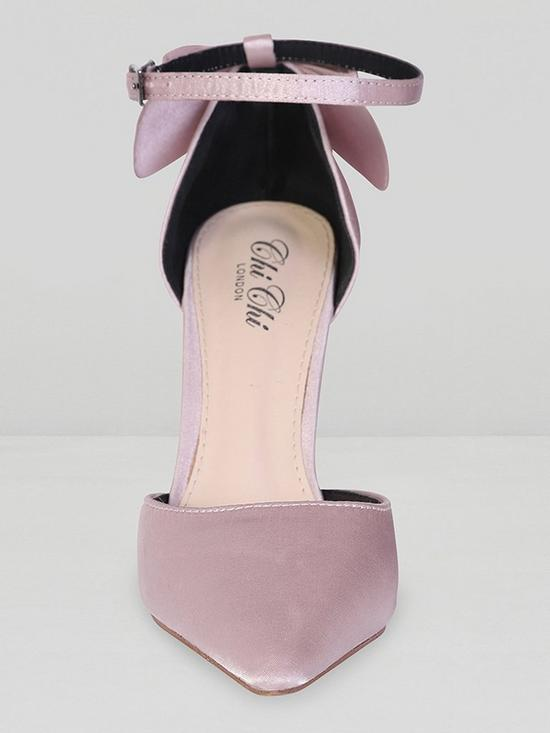 co Shoes MinkVery uk Chi London Heidi Bow Court Heeled Back qzpUVSM