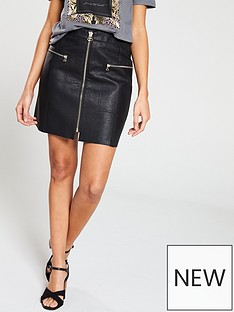 river-island-biker-pu-skirt-black