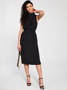 aa3e1572b07c5 River Island River Island Cowl Neck Midi Dress - Black | very.co.uk