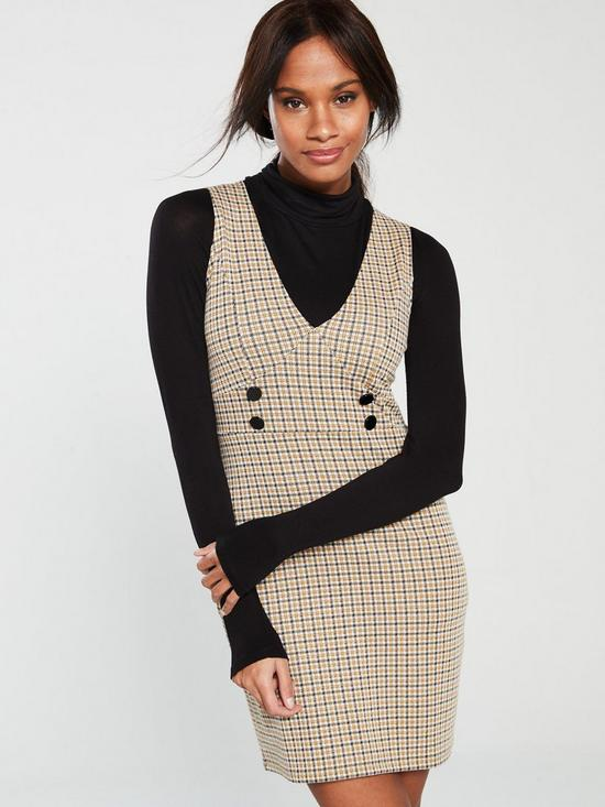 608ce8c0c832 V by Very Check Pinafore - Multi | very.co.uk