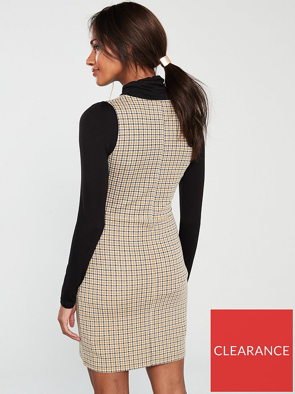 variety design famous designer brand finest fabrics Check Pinafore - Multi