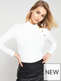 v-by-very-button-detail-rib-top-white