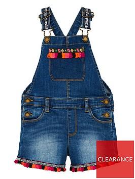 mini-v-by-very-girls-fringe-detail-dungarees-blue