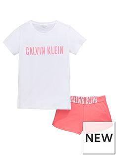 calvin-klein-girls-shorty-pyjama-set-pinkwhite