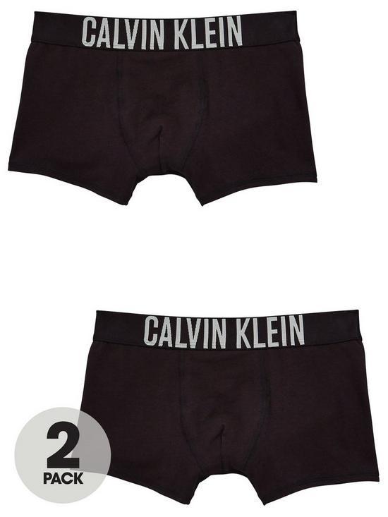 d538ae75677 Calvin Klein Boys 2 Pack Trunks - Black | very.co.uk