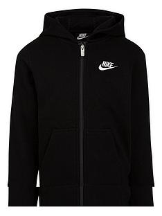 nike-younger-child-club-full-zip-hoodie-black