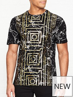versace-collection-marble-laminate-frame-t-shirt-black
